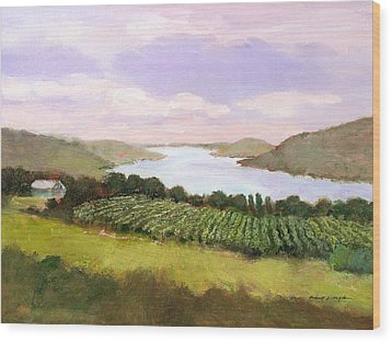 Canandaigua Lake Wood Print by J Reifsnyder