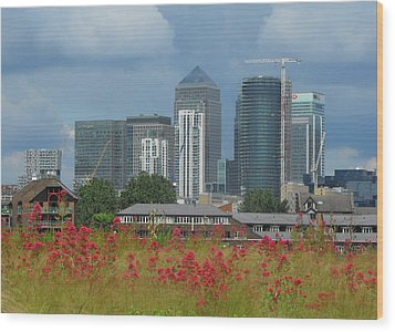 Canary Wharf 01 Wood Print