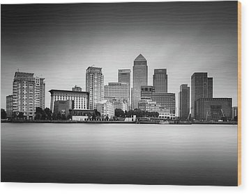 Canary Wharf, London Wood Print by Ivo Kerssemakers