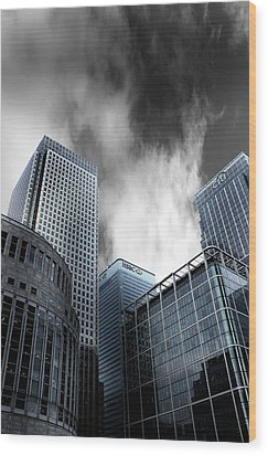 Canary Wharf Wood Print by Martin Newman