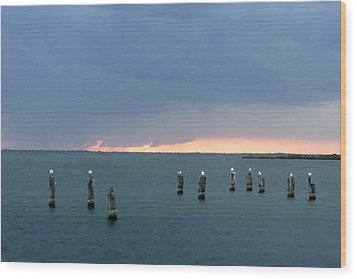 Canaveral Sunset Wood Print by Eric Foltz