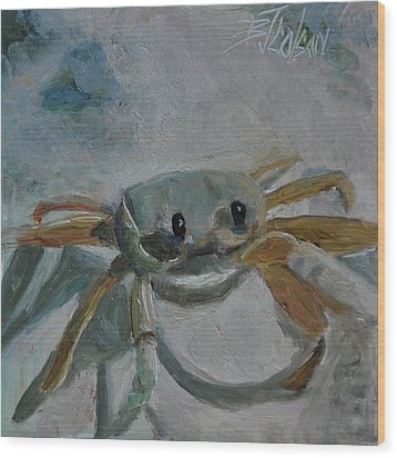 Wood Print featuring the painting Cancer's Are Not Crabby by Billie Colson