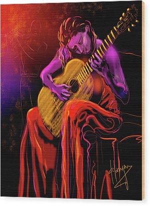 Cancion Del Corazon Wood Print by DC Langer