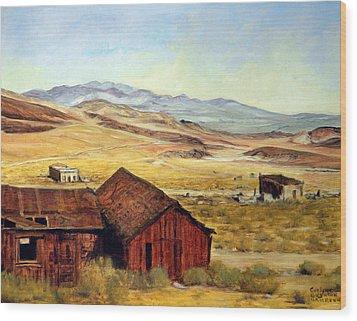 Canderia Nevada Wood Print by Evelyne Boynton Grierson