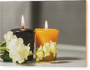 Candle Wood Print by Hyuntae Kim