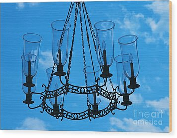 Candle In The Sky Wood Print by Hideaki Sakurai