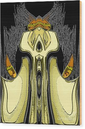 Candle Keep Wood Print by Patrick Guidato
