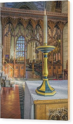 Wood Print featuring the photograph Candle Of  Prayer by Ian Mitchell