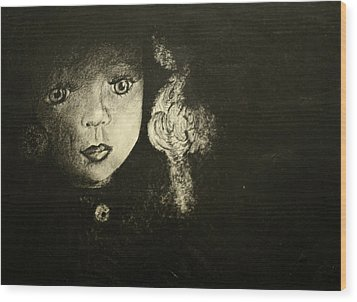Wood Print featuring the painting Candlelight by Jane Autry