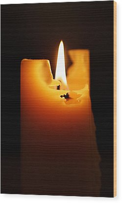 Candlelight Wood Print by Rona Black