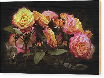 Candlelight Rose  Wood Print by Jessica Jenney