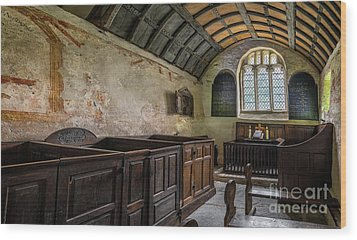 Wood Print featuring the photograph Candles In Old Church by Adrian Evans