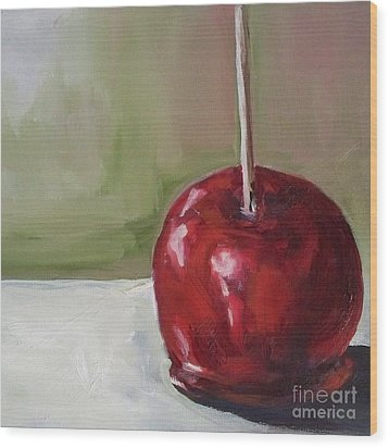 Candy Apple Wood Print by Kristine Kainer