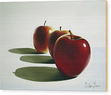 Candy Apple Red Wood Print by Colleen Brown