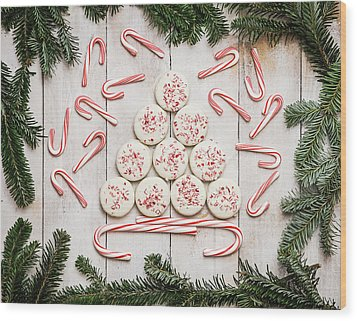 Wood Print featuring the photograph Candy Cane Lane by Kim Hojnacki