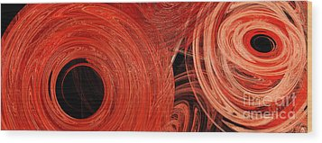 Wood Print featuring the digital art Candy Chaos 1 Abstract by Andee Design