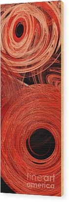 Wood Print featuring the digital art Candy Chaos 2 Abstract by Andee Design