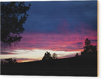 Candy-coated Clouds Wood Print