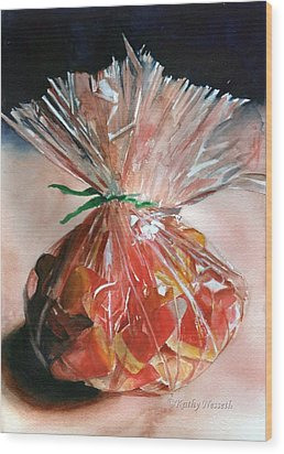 Candy Corn Wood Print by Kathy Nesseth