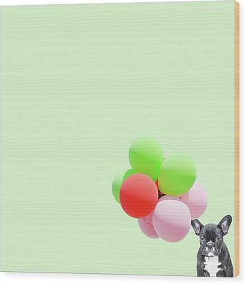 Candy Dog Wood Print