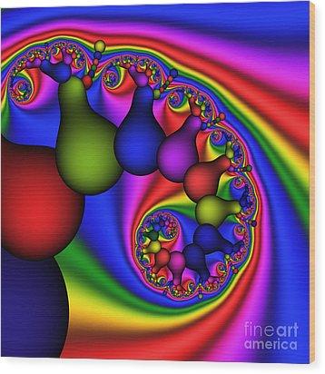 Candy Light Bulbs 170 Wood Print by Rolf Bertram
