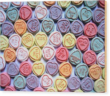 Candy Love Wood Print by Michael Tompsett