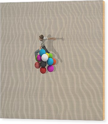 Candy Sand Wood Print