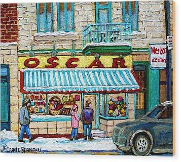 Candy Shop Wood Print by Carole Spandau