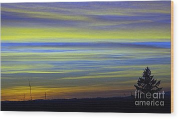 Wood Print featuring the photograph Candy Sky 1 by Victor K