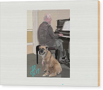 Canine Composition Wood Print