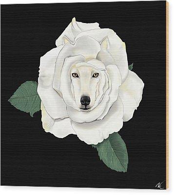 Canis Rosa Wood Print