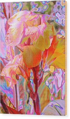 Canna Abstract 3 Wood Print