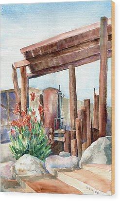 Canna And Boiler Run Wood Print by John Ressler
