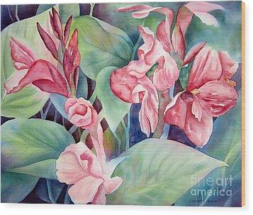 Canna Wood Print by Deborah Ronglien