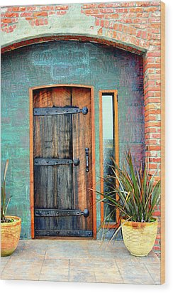 Cannery Door Wood Print by Lynn Bawden
