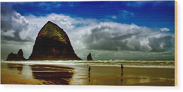 Cannon Beach At Dusk IIi Wood Print by David Patterson
