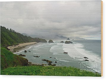 Wood Print featuring the photograph Cannon Coast by Suzette Kallen