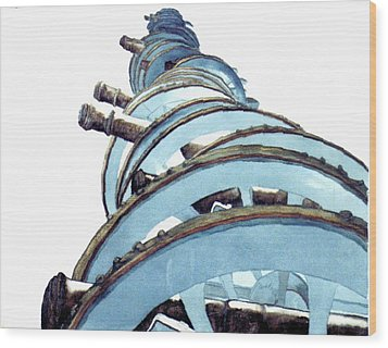 Cannons At Valley Forge Wood Print by Saundra Lee York