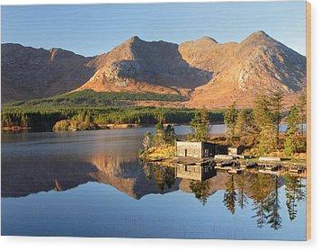 Canoe Club In Connemara Ireland Wood Print by Pierre Leclerc Photography