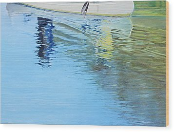 Canoe For Two Wood Print by Richard Laycock