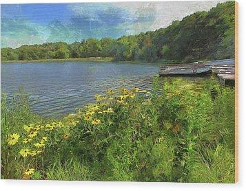 Canoe Number 9 Wood Print by Cedric Hampton