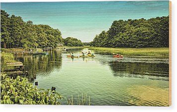 Canoeing Wood Print by Gina Cormier