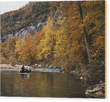 Wood Print featuring the photograph Canoeing The Buffalo River At Steel Creek by Michael Dougherty