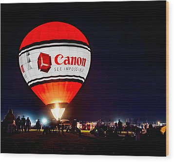 Canon - See Impossible - Hot Air Balloon Wood Print