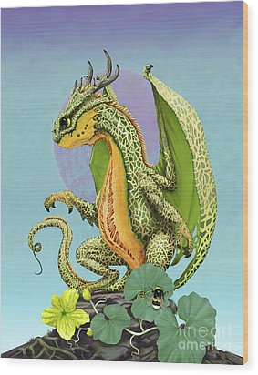 Cantaloupe Dragon Wood Print by Stanley Morrison