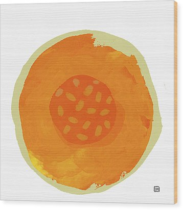 Cantaloupe Wood Print by Lisa Weedn