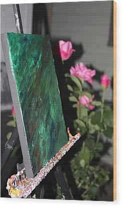 Wood Print featuring the photograph Canvas And Roses by Vadim Levin