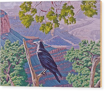 Canyon Jester Wood Print