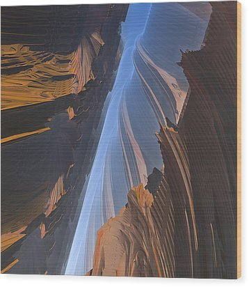 Wood Print featuring the digital art Canyon by Lyle Hatch