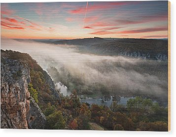 Canyon Of Mists Wood Print by Evgeni Dinev